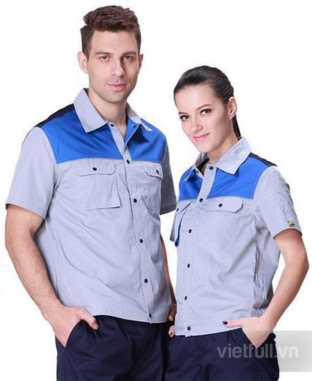 May quần áo công nhân