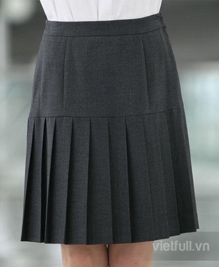 Váy công sở xếp ly